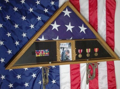 Flag Case Military Memorial Flag Display Cases For