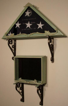 Flag Case and shadow box - Style Island Water
