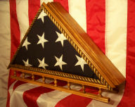 Stars and Stripes Flag Display Case