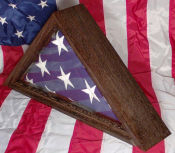 Flag case crafted from exotic Wenge Wood