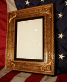 Certificate holder/frame shown in Western style - available to match any flag display case style