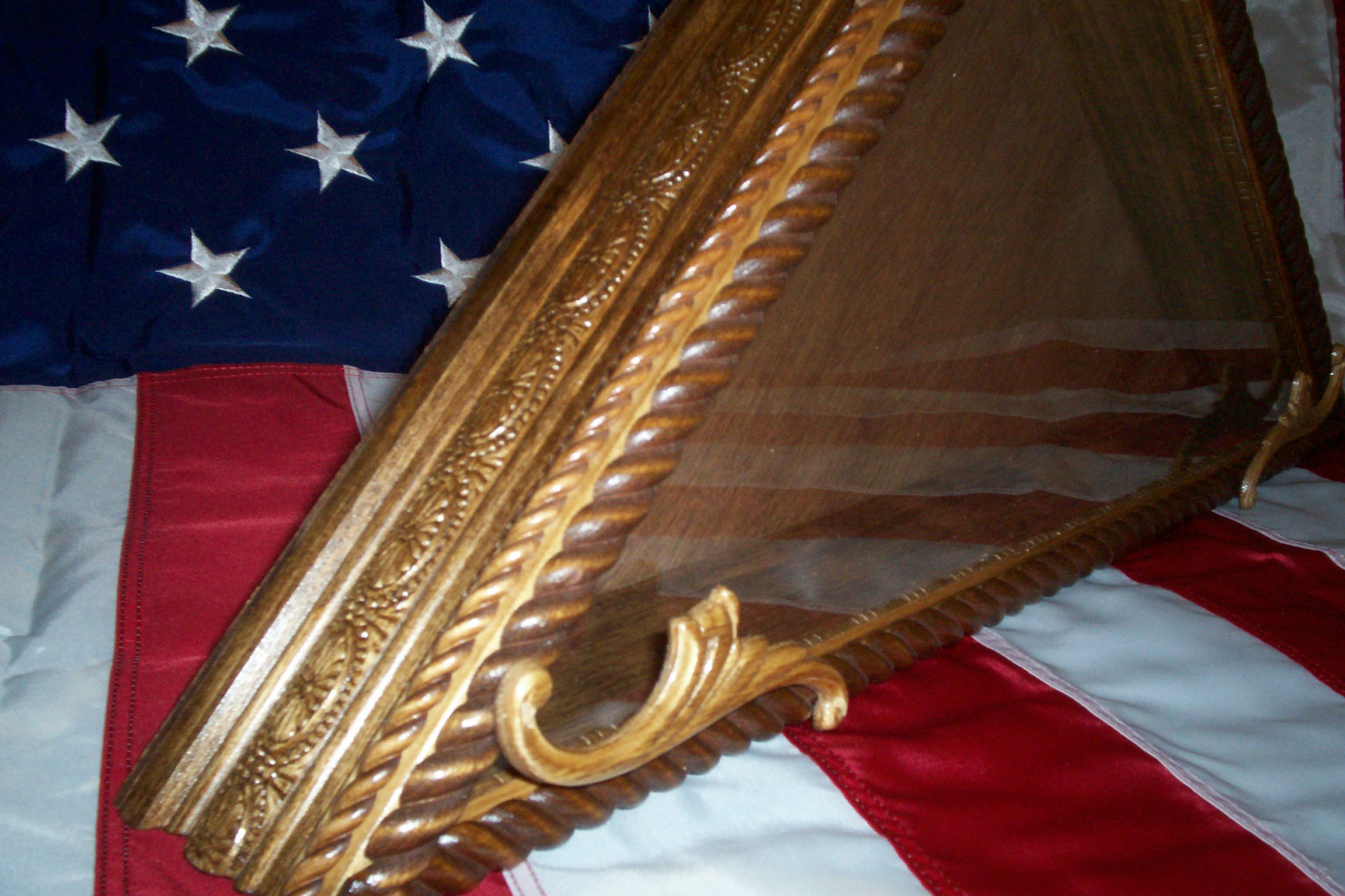 Flag case for military or memorial flags. Matching shadow boxes and ...